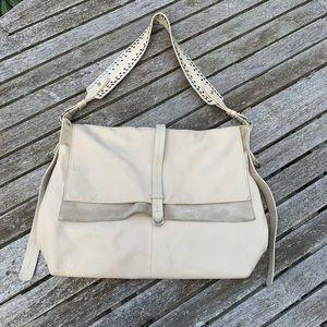TOPSHOP Cream Shoulder Bag